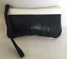 CELLINI Padded Lamb Skin Leather Wristlet/ Clutch Bag / Handbag