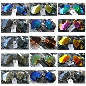 Pilotenbrille Sonnenbrille  Pornobrille Fliegerbrille Brille Verspiegelt UV400 !