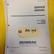 Dixie Chopper Generac Gtv -990 /760 Engine service Manual parts ( Box19E)