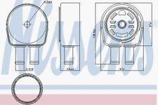 Nissens Oil Cooler 90946 Fits VOLVO V60 2 01/10--