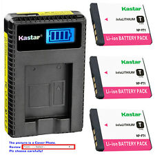 Kastar Battery LCD USB Charger for Sony NP-FT1 & Sony Cyber-shot DSC-L1/R