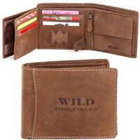 Herren Geldbörse Portemonnaie Geldbeutel Leder WILD Things Only!!! Brieftasche