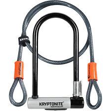 Kryptonite Kryptolok Bike Cycle Bicycle U-Lock With 4 Foot Kryptoflex Cable