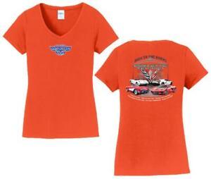 11th Annual Corvette Reunion @ BACK TO THE BRICKS WOMENS T Shirt ORANGE S L XL