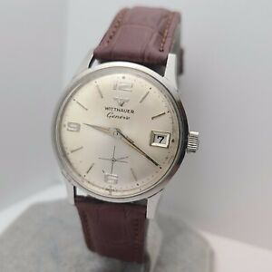 Vintage Longines WITTNAUER Geneve Men's manual wind watch 17jewels swiss 1960s