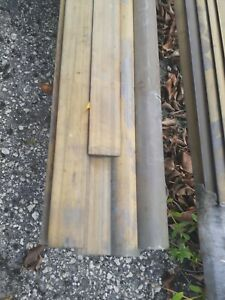 "1 1/4"" / 12' Brass Rub Rail PN#93090"