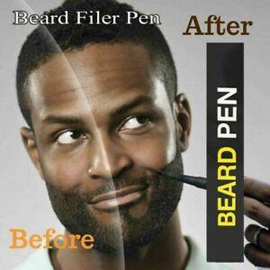 Waterproof Beard Pencil Filler Hair Grower Last Moustache Eyebrow Brush Kit US_