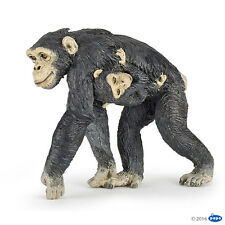Papo 50194 Chimpanzee With Baby 2 3/8in Wild Animals