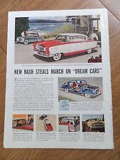1955 Nash Ambassador Country Club & Healey Sports Car Ad