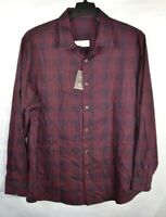 Tasso Elba Men's Stretch Dobby Woven Button-Down Shirt, Red, Size XXL, $60, NwT