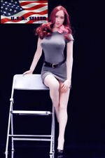 "1/6 Sexy Gray Dress Set For 12"" PHICEN Verycool Hot Toys Female Figure ❶USA❶"