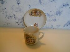 Vtg.demitasse cup & saucer England King George V and Queen Mary Silver Jubilee