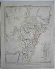 Neu Süd-Wales New South Wales Australia Kolor lithographed Map 1856 Sydney