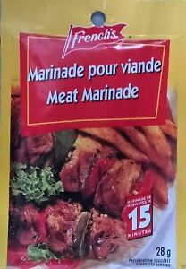 24 French's Meat Marinade Seasoning Mix 28g Each -From Canada FRESH Delicious