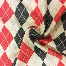 NL095 Diamond & Baratta Argyle Geo Geometric Classic Designer Home Decor Fabric