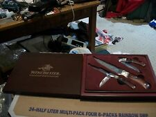 Winchester 2008 Limited Edition  Mother of Pearl & Wood Handle Knife Set in Box
