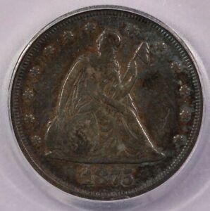 1875-P 1875 Seated Liberty Twenty Cent 20c ICG VG10 Details