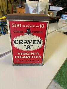 Antique Craven A Cigarette Tin