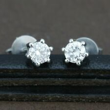 Genuine 18ct WG Genuine Diamond 6 Claw Studs - 26 Points