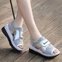 New Women Open Toe Sneakers Mesh Trainers Platform Sandals Walking Gym Shoes