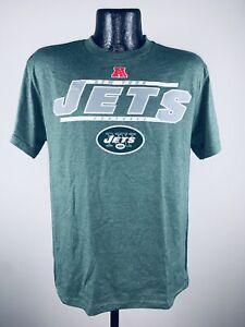 Men's NFL Football New York Jets Control The Clock Green Cotton Shirt NWT XL