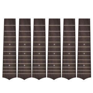 6 Pcs Ukulele Fretboard for Soprano Hawaii Guitar Replacement 12 Fret