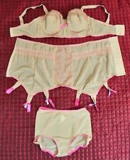 Betty Page Shapewear Collection by Secrets in Lace, Nude with Pink Stitching
