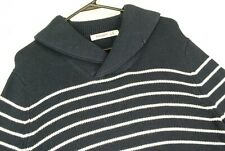 Old Navy Nautical Striped Pullover Sweater Shawl Cowl Collar Blue Mens Small