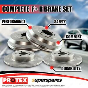 Protex Front + Rear Brake Rotors Drums for Seat Ibiza 1.4L to Chas: 6K-W-241400