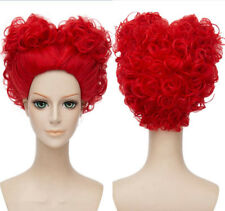 Alice in Wonderland The Red Queen Bright Red Heat Resistant Cosplay Styled Wig