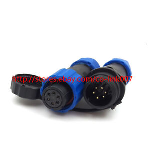 SD13 6pin Waterproof Connector, High-voltage Solar Power Charge Cable Connector