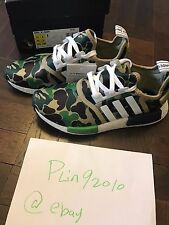 finest selection eac8d 7853c BAPE x Adidas NMD R1 COLLAB GREEN CAMO US 6.5 OLIVE ARMY BLACK