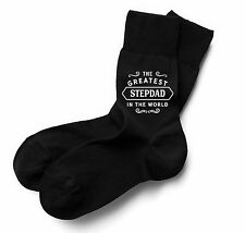 StepDad Socks Birthday Gift Greatest Present Idea Boy Dude Him Men Black Sock