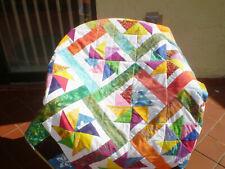 Handmade Batik Baby quilt,baby girl boy quilt,crib,toddler-Batik Twirligigs