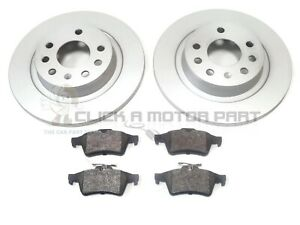 SAAB 9-3 93 03-12 1.8 T REAR 2 BRAKE DISCS AND PADS SET (SOLID DISCS NOT VENTED)