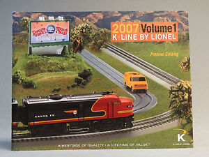 K LINE BY LIONEL 2007 VOLUME 1 Advertising book publication TRAIN CATALOG