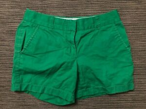 J Crew Factory Adult Womens 0 Broken In Chino Shorts Green