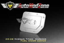 Fit 04-15 Nissan Titan Triple Chrome Fuel Tank Gas Door Cap Cover