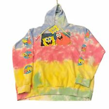New Nickelodeon Spongebob Patrick Tie Dye Color Square Photo Hoodie XL