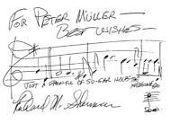 Komponist Richard M. Sherman: Eigenh. Notenzeile mit Original-Unterschrift