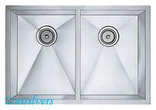 """37"""" Double 50/50 Bowl  Kitchen Sink Stainless Steel Zero Radius"""