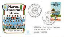 Repubblica Italiana 1987 FDC Filagrano Napoli Campione d'Italia 1986-87