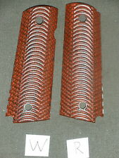 W 1911 Grips Wing Red Dymondwood 1911A1 Colt Kimber Springfield Micarta