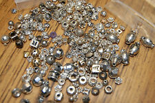 Mixed Charms & Spacers Lot Playing Cards Cross Heart Metal Asst Shapes & Size