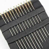 60x Self-Threading Sewing Needles - ASSORTED SIZES - EASY THREAD- Big Eye New
