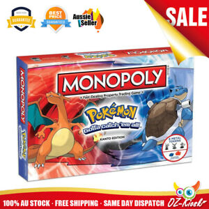 OZ Monopoly Pokemon Kanto Edition Board Game Fast-Dealing Property Trading Game