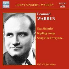 Leonard Warren - Sea Shanties Kipling Songs [New CD] Germany - Import