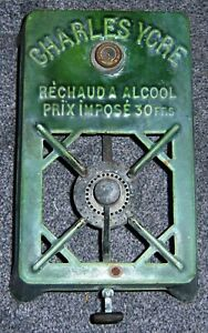 FRENCH - Vintage, Green Enamel  Alcohol/Camping Stove. Charles Ycre. 1930's?
