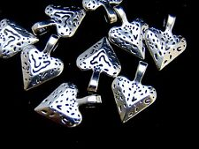 10 Pcs - 20mm Tibetan Silver Chunky Heart Pendants / Charm Jewellery Craft U132
