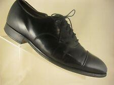 Johnston Murphy Optima Black Leather Cap Toe Dress Oxfords Shoes Mens Size 10D/B